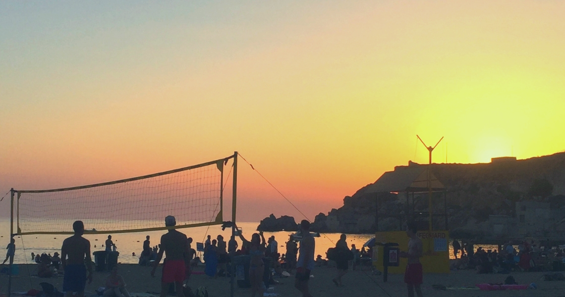 golden-bay-malta-sunset-beachvolley